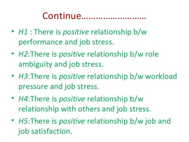 the impact of job stress on Mead [25] concluded in his study the impact of stress in job performance he  pointed out that there is negative impact of job stress on employee.