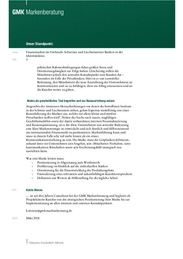 Markenstandpunkt Schweizer Banken Slide 3