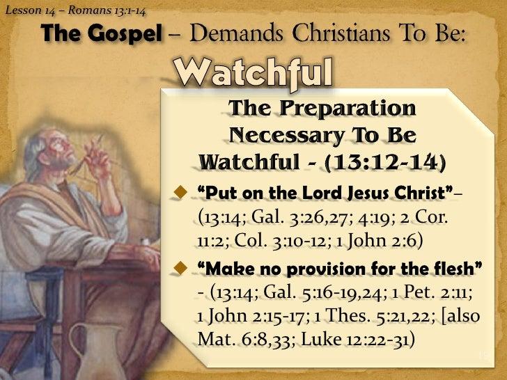 The Gospel Demands Subjection Love Amp Watchfulness