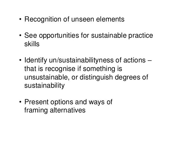 Sustainability as communication but not the greenwash kind.