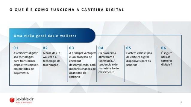 As carteiras digitais são tecnologias para transformar dispositivos móveis em métodos de pagamento. 6 A principal vantagem...