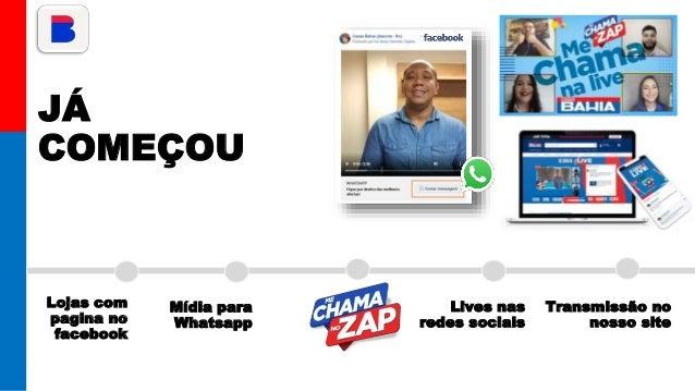 JÁ COMEÇOU Lojas com pagina no facebook Mídia para Whatsapp Lives nas redes sociais Transmissão no nosso site
