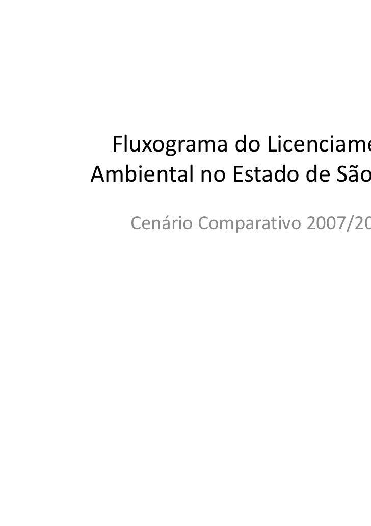 Fluxograma do LicenciamentoAmbiental no Estado de São Paulo   Cenário Comparativo 2007/2011