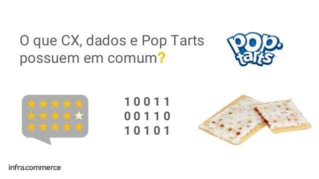 1 0 0 1 1 0 0 1 1 0 1 0 1 0 1 O que CX, dados e Pop Tarts possuem em comum?