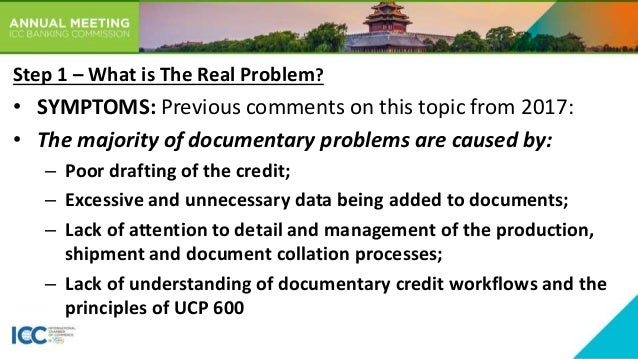 #BCMeeting2019: Documentary Credit Practices Slide 3