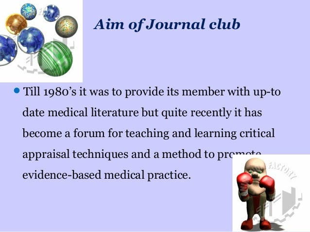 How to present a journal club 16 aim of journal club pronofoot35fo Images