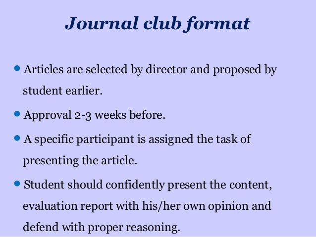 how to present a journal club, Powerpoint templates