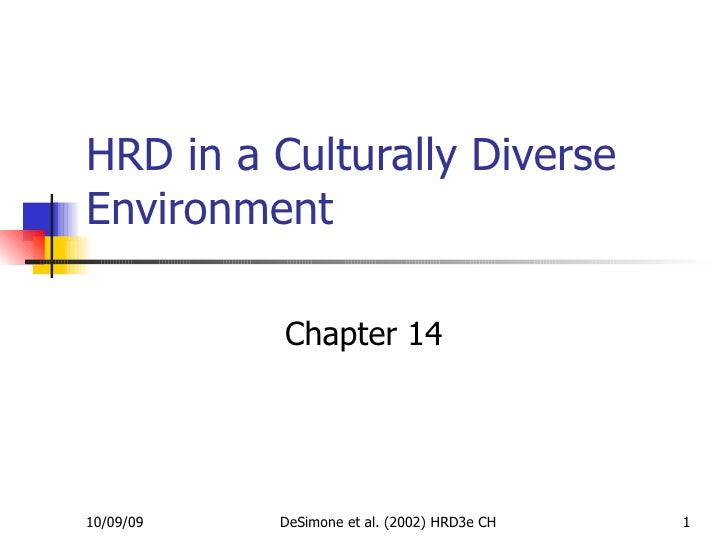 HRD in a Culturally Diverse Environment Chapter 14