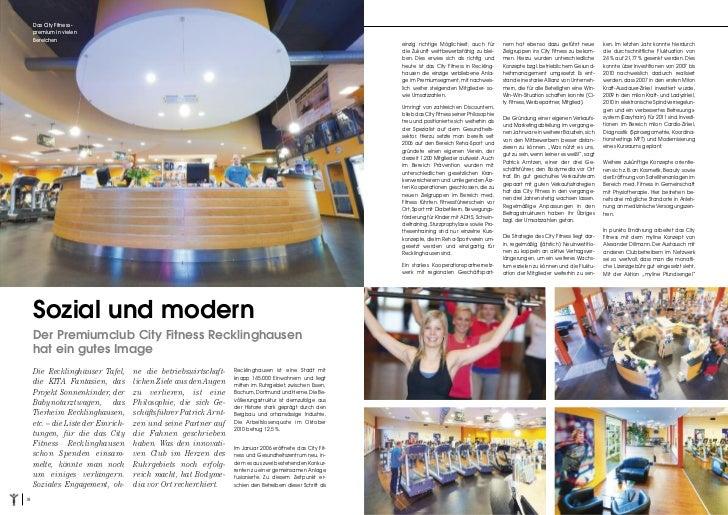 city fitness recklinghausen in den medien 2. Black Bedroom Furniture Sets. Home Design Ideas