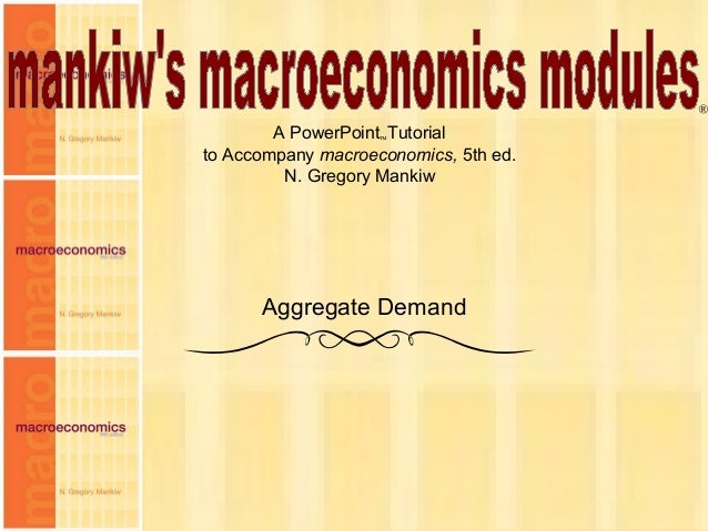 Chapter Ten 1 A PowerPoint™Tutorial to Accompany macroeconomics, 5th ed. N. Gregory Mankiw ® Aggregate Demand