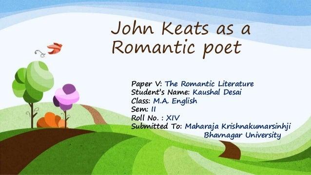 John Keats As A Romantic Poet