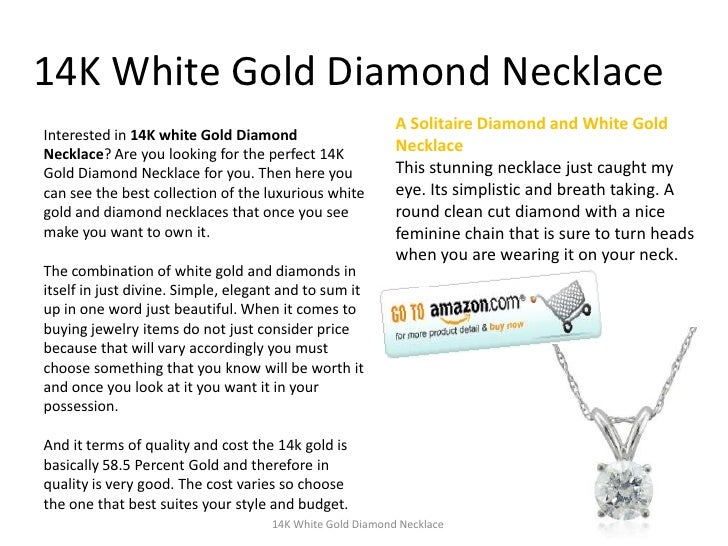 14K White Gold Diamond Necklace<br />A Solitaire Diamond and White Gold Necklace <br />This stunning necklace just caught ...
