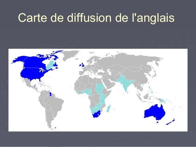 Carte de diffusion de l'anglais