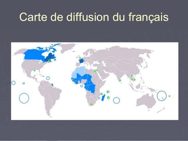 Carte de diffusion du français
