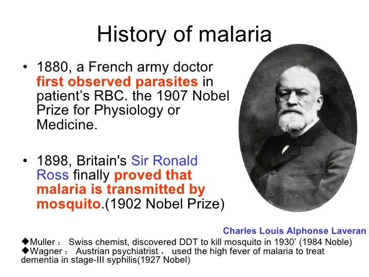 When was malaria first discovered?