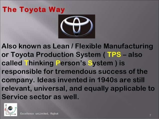 principals of management the toyota way Toyota motor corporation 6461 words, 26 pages in this essay i will give an overview of toyota motor corporation (tmc) within the framework of international business.