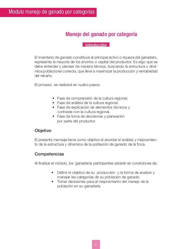 Modulo manejo de ganado por categorias  Manejo del ganado por categoría  Introducción  El inventario de ganado constituye ...