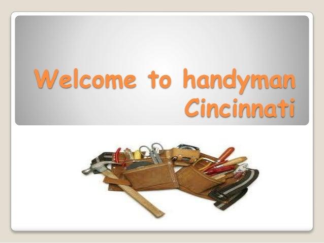 Welcome to handyman Cincinnati