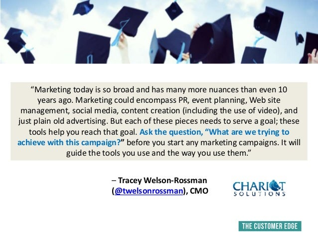 """""""Marketing today is so broad and has many more nuances than even 10 years ago. Marketing could encompass PR, event plannin..."""