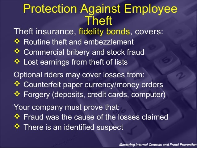 internal controls and fraud prevention in non 2 •internal fraud is an ongoing concern and by many indications is growing •there are a number of factors contributing to the increase •there's more at stake than the actual fraud losses the threat within.