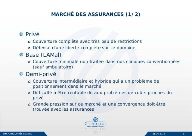 Les relations avec les assureurs (Romain Boichat, Genolier Swiss Medical) Slide 2