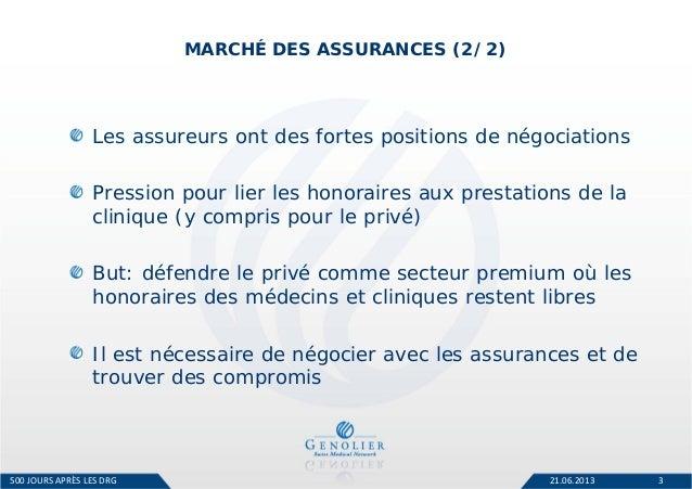 Les relations avec les assureurs (Romain Boichat, Genolier Swiss Medical) Slide 3