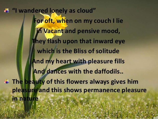 nature in tintern abbey and ode intimations of immorality by wordsworth For william wordsworth, nature seemed to be at once outside him and to belong   ('ode', later entitled, 'ode: intimations of immortality from.