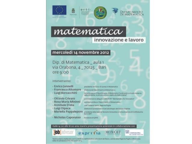 www.facebook.com/alumnimatematicabari matematicabari@gmail.com