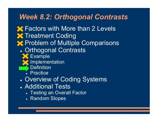 What Makes Contrasts Orthogonal?