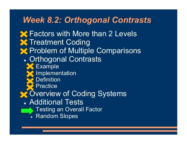 Testing an Overall Factor • So far, we have compared specific categories (levels) of a factor • Sometimes, when we have >2...