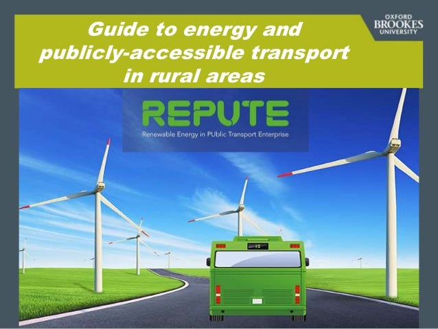 Guide to energy and publicly-accessible transport in rural areas