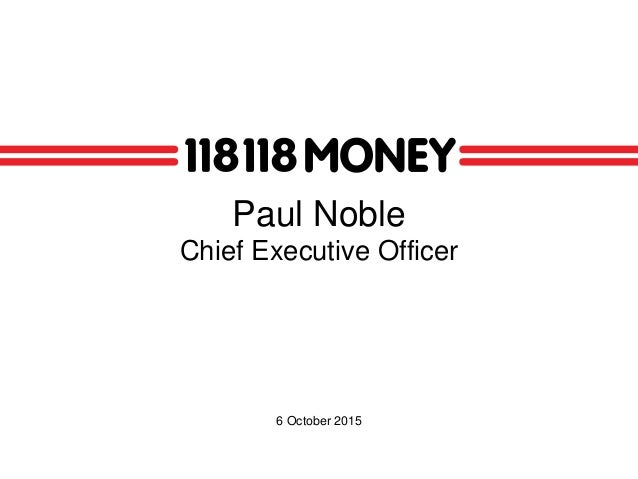 Paul Noble Chief Executive Officer 6 October 2015