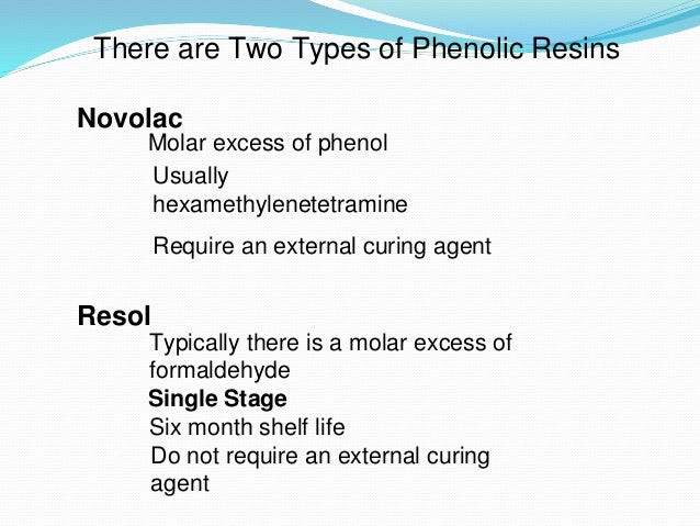phenolic resins  physical properties 13
