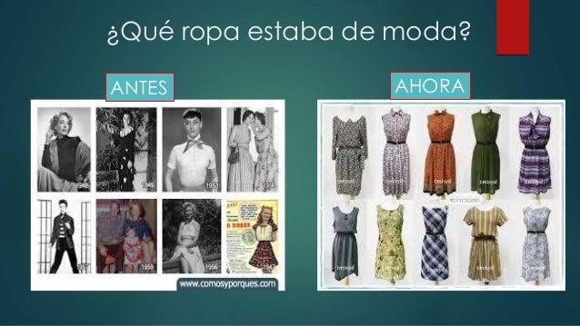 Moda de antes y ahora