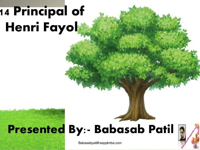 fayols principals Henri fayol's 14 principles of management 1 henri fayol's 14 principles of management major credit of developing the body of principles of management goes to none other than mr henry fayol he is put forward a set of fourteen principles of management which has gained a wide area of application in the field of business.