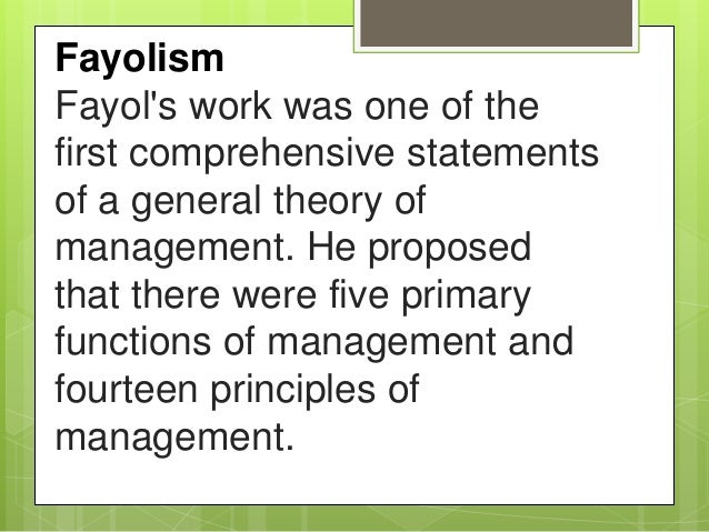 management functions by fayol