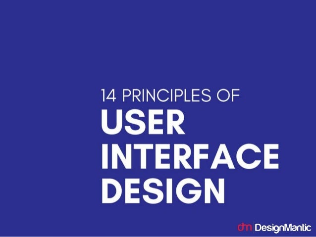 14 principles of user interface design