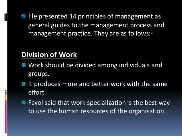 14 principles of management