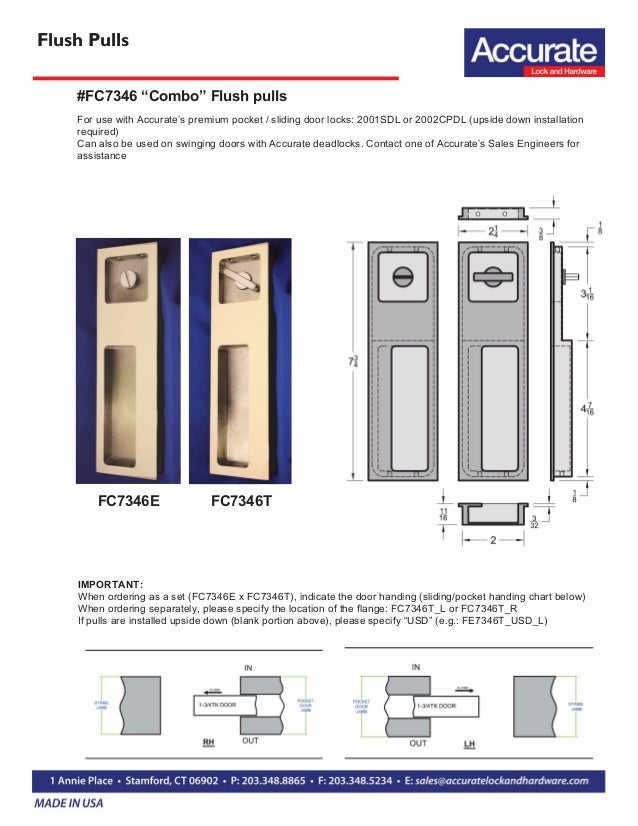 ... 12. Flush Pulls FC7346E FC7346T For Use With Accurateu0027s Premium Pocket  / Sliding Door ...
