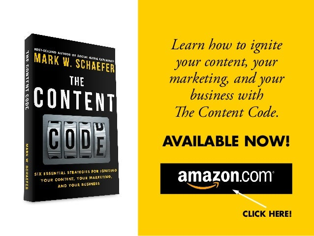 Learn how to ignite your content, your marketing, and your business with The Content Code. AVAILABLE NOW! CLICK HERE!