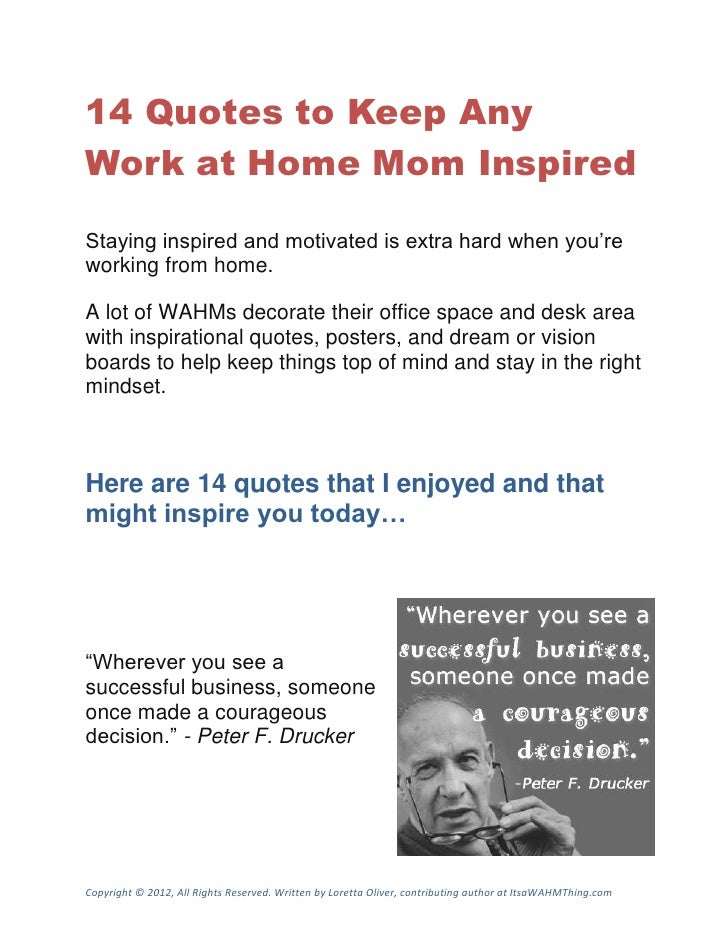 14 Quotes To Keep Work At Home Moms Inspired