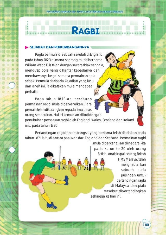 Pendidikan Jasmani dan Sukan untuk Sekolah-sekolah Malaysia                                 RAGBI   SEJARAH DAN PERKEMBANG...