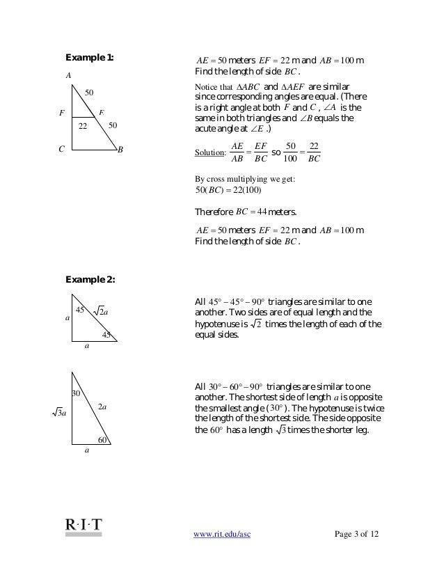 14 right angle trigonometry