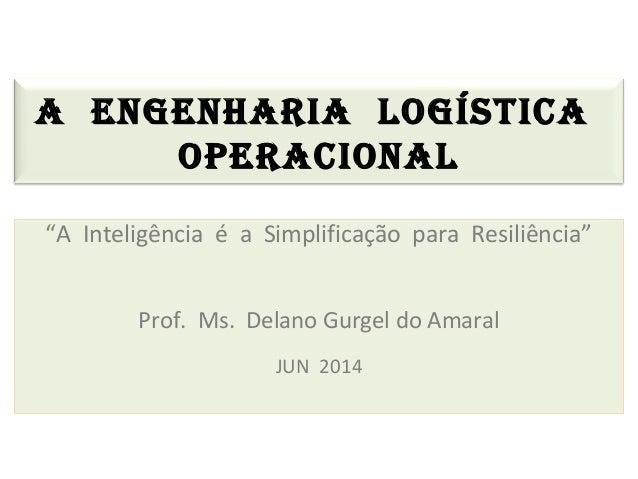 """A ENGENHARIA LOGÍSTICA OPERACIONAL """"A Inteligência é a Simplificação para Resiliência"""" Prof. Ms. Delano Gurgel do Amaral J..."""