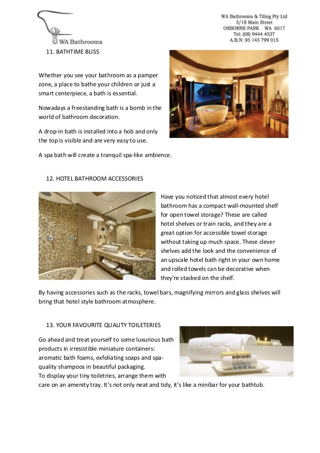 14 steps to a 5 star hotel bathroom2016