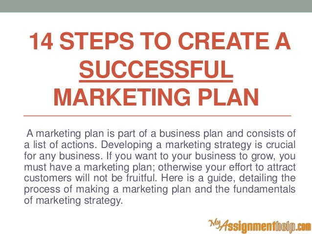 14 steps to create a successful marketing plan for Steps to start building a house