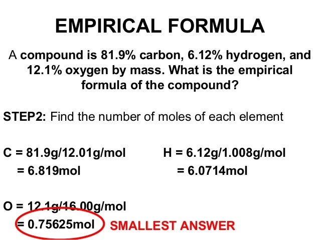 how to find the number of moles in a compound