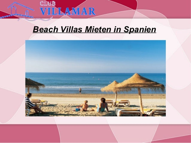 Beach Villas Mieten in Spanien