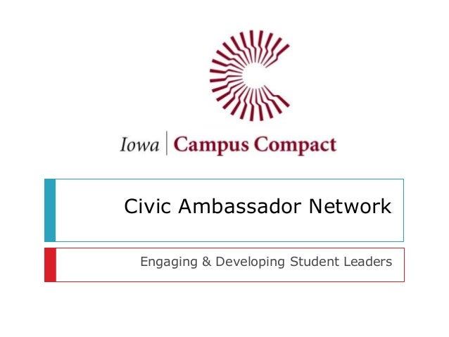 Civic Ambassador Network Engaging & Developing Student Leaders