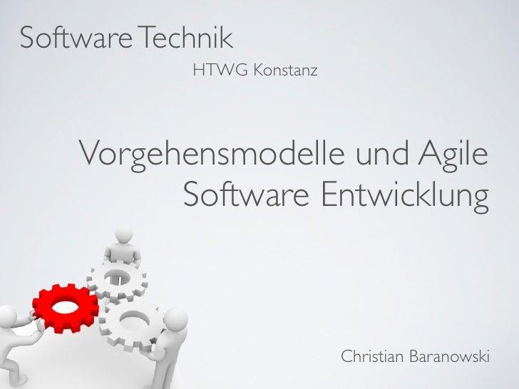 Einführung Vorgehensmodelle und Agile Software Entwicklung